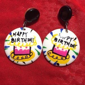 Jewelry - Happy Birthday earrings